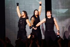 The Shield: Seth Rollins (L), Roman Reigns (M) and Dean Ambrose (R)