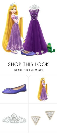 """Tangled: Rapunzel and Pascal"" by cherrykisses88 ❤ liked on Polyvore featuring GC Shoes, York Wallcoverings, Kate Marie, Adina Reyter and Disney"