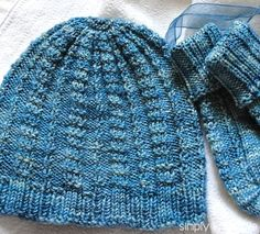 A very special classic style, free baby hat knitting pattern using the Pique' Rib stitch.