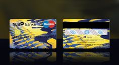 Credit card design by Ana Novakovic, via Behance Cis, Credit Card Design, Bank Card, Card Designs, Business Cards, Behance, Awesome, Blue, Card Patterns