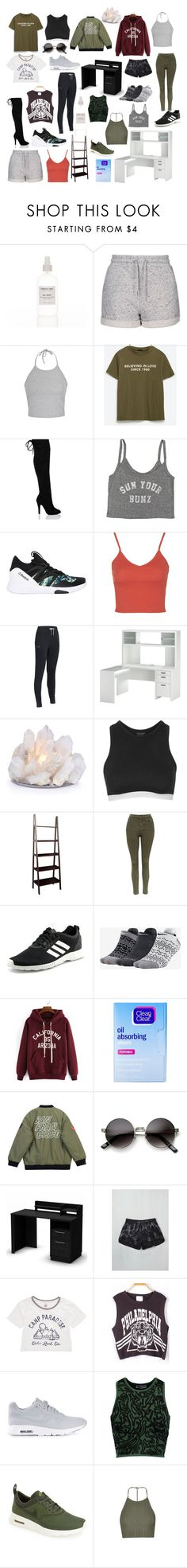 """""""Untitled #22"""" by monyf ❤ liked on Polyvore featuring Topshop, Ally Fashion, Zara, Billabong, Reebok, Under Armour, jcp, adidas, NIKE and Clean & Clear"""