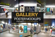 9 in 1 Gallery Poster Mockups PACK by alexvisual on Creative Market