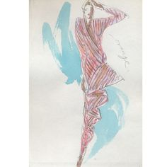 Joe Eula Fashion Illustration for Halston