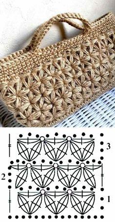 26 beautiful crochet bag designs and graphics - Bolsas crochê - . 26 beautiful crochet bag designs and graphics - Bolsas crochê - # crochê # Häkeltasche Always. Crochet Stitches Patterns, Crochet Motif, Crochet Designs, Knit Crochet, Crochet Shawl Diagram, Knitting Patterns, Crochet Handbags, Crochet Purses, Crochet Bags