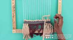 Prima Loom Tutorials - Soumak Learn how to weave! Weaving Wall Hanging, Weaving Art, Tapestry Weaving, Loom Weaving, Hand Weaving, Hanging Tapestry, Loom Love, Peg Loom, Yarn Inspiration