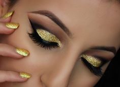 Idee make-up Capodanno 2016 colore oro e nero