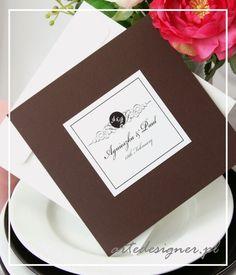 Zaproszenia ślubne Tiffany / Tiffany wedding invitation. Product By / www.artedesigner.pl