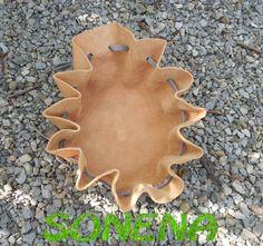 DIY Lederbeutel / Rundbeutel - eine tolle Geschenkidee z.B. für Schmuck als Schmuckbeutel - auch als Geschenkverpackung sehr gut geeignet.