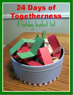 24 days of togetherness -- Holiday Bucket list to do as a couple! SO fun!!