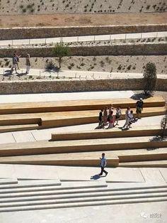 création jardin promenade fort saint-jean Marseille - agence aps Plus Landscape Plaza, Landscape Stairs, Landscape And Urbanism, Urban Landscape, Landscape Design, Berlin Zoo, Parque Linear, Urban Architecture, Architecture Diagrams