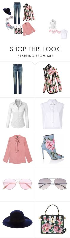 """dress code for april 2018"" by sara-baros on Polyvore featuring Dolce&Gabbana, LE3NO, Helmut Lang, Alaïa, Oliver Peoples, Tory Burch, walk and ilikethis"