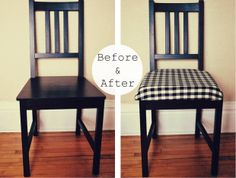 DIY: Check Chair Cushion by Hickory, via Flickr