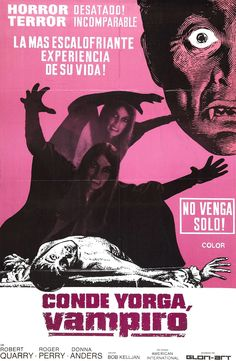 Count Yorga, Vampire (1970) Horror Movie Posters, Horror Films, Cult Movies, Scary Movies, Pink Movies, Horror Font, Horror Monsters, Classic Horror Movies, Famous Monsters