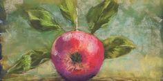 Jabłko – suche pastele na papierze ściernym – Monika Wiśniewska Amaviael