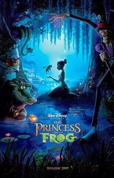 The Princess and the Frog is a 2009 American animated musical fantasy comedy film produced by Walt Disney Animation Studios. Walt Disney Animation, Disney Pixar, Walt Disney Animated Movies, Disney Animation Studios, Disney E Dreamworks, Animated Movie Posters, Disney Movie Posters, Cinema Posters, Disney Memes