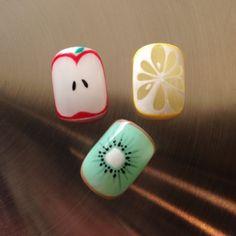 Love Nails, Fun Nails, Pretty Nails, Fruit Slices, Japan Nail, Fruit Nail Art, Korean Nails, Nails 2018, Nail Patterns