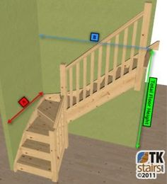 Pine Staircase   3kite Winder Stair, Posts & Balustrade