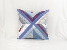 Striped Cushions, Designers Guild, Cushion Pads, Recycled Fabric, Vintage Textiles, Polka Dot Print, French Vintage, French Country, Color Mixing
