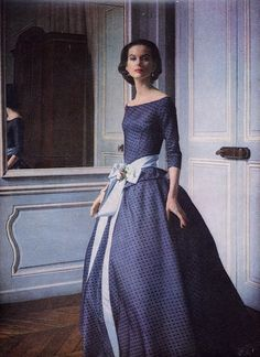 Evening gown c. 1955 Vogue