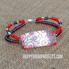 DIY Bracelet : DIY Embossed Beaded Bracelet