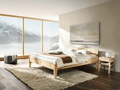 Grune Erde Bett Alpina : Bett Alpina mit Betthaupt, Höhe 90,8 cm, Zirbe, 180x200 cm  Grüne ...