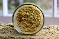 Nutritional Yeast! When you want your food to have that scrumptious nutty-cheesy taste without using cholesterol laden, saturated fat filled dairy cheese!