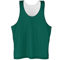 Augusta Sportswear Youth Reversible Sleeveless Tricot Mesh Lacrosse Tank. 208 Description Two layers of 100% polyester tricot mesh, Fully reversible for wearing on either side, Waist length, Bottom hem of each layer finished separately to allow for embellishment. G0tApparel