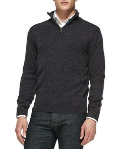Pair this sweater with slacks and a colored dress shirt to create a great fall look with some a pop of color at the collar.