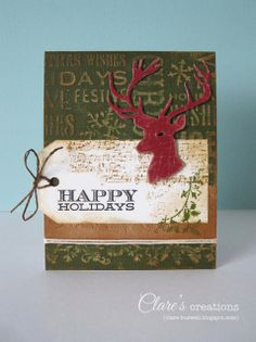Clare's creations: Hard Core Crop - Quick and Easy Christmas Cards Challenge