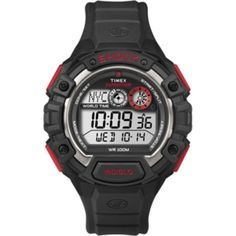 Timex Expedition Global Shock Watch - Black/Red