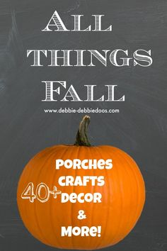 #Fall porches #crafts, decor and more!