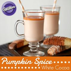 How to make your own Pumpkin Spice White Cocoa using Wilton's Limited Edition Pumpkin Spice Candy Melts® Candy.