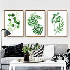 Try adding these beautiful tropical leaves painting frames to your living room to give it some live spirit. click on image to check it out.