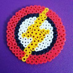 The Flash logo perler beads by craftinggirl787
