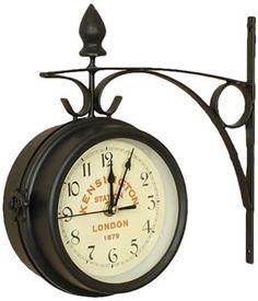 London Kensington Train Station Double Sided Wall Clock - SMALL