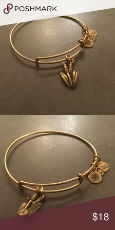 Alex and Ani Cattail Gold Gently worn Alex & Ani Jewelry Bracelets