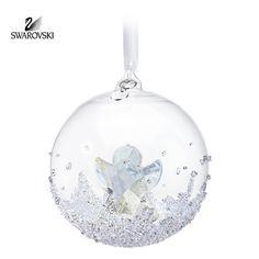 Swarovski Clear Crystal Christmas Ornament Christmas Ball 2015 #5135821