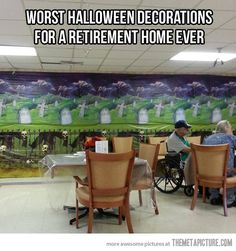 Not the best choice for Halloween decorations…