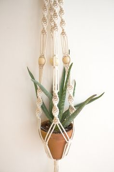Macrame! Loving this update to the quintessential 70's home decor.