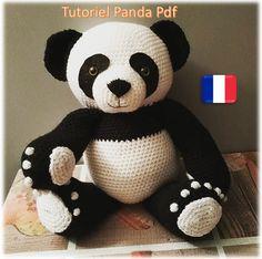 Crochet Panda, Crochet Bear, Crochet Patterns Amigurumi, Crochet Blanket Patterns, Baby Blanket Crochet, Crochet For Kids, Crochet Animals, Amigurumi Toys, Yarn Dolls