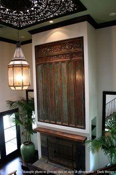 Large Wall Art Decor. Carved Wood Panel. Teak by SiamSawadee