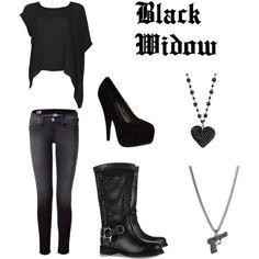 """Avengers Fashion - Black Widow"" love the shirt.."