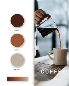 color psychology and color therapy Hex Color Palette, Color Palate, Coffee Brown Color, Coffee Colour, Paleta De Color Hexadecimal, Game Design, Web Colors, Brow Color, Color Psychology