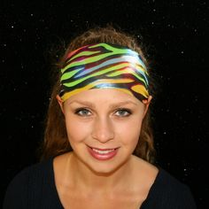 Running Headbands, Sports Headbands, Headbands For Women, Workout Headband, Yoga Headband, Wide Headband, Athletic Headbands, Stretchy Headbands, Rainbow Zebra