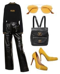 """""""Pain pt. 1"""" by vanillabae ❤ liked on Polyvore featuring Yves Saint Laurent, Christian Louboutin and RetroSuperFuture"""