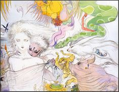 Yoshitaka Amano Yoshitaka Amano, Yarn Painting, Japanese Artists, Illustration Art, Manga Illustrations, Anime Art, Art Gallery, Character Design, Fantasy