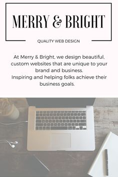 Merry & Bright Quality Web Design. Affordable website design for everybody. Build a blog on Wordpress for  you