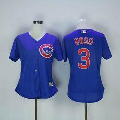 43a672d5918 Women Chicago Cubs  3 David Ross blue Jersey