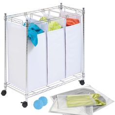 Honey Can Do LDYX05942 Laundry Sorter and Wash Kit (white, blue) (Fabric)