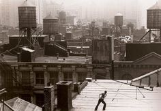 "Trisha Brown's ""Roof Piece,"" 1973. Credit: Babette Mongolte"